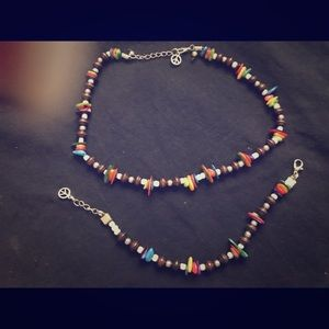 Jewelry - Boho style necklace and bracelet set